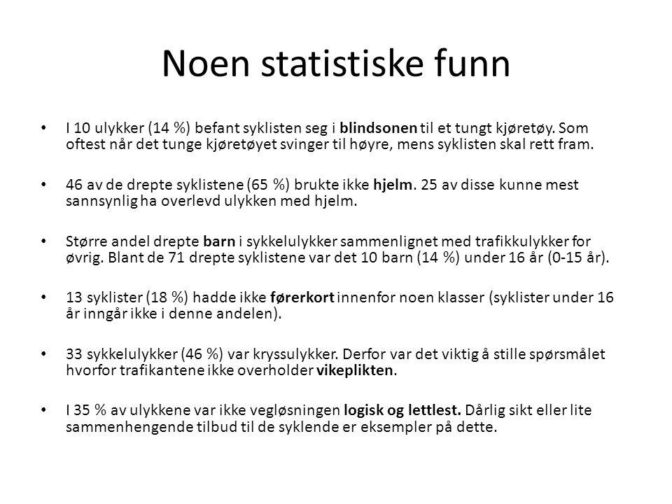 Noen statistiske funn