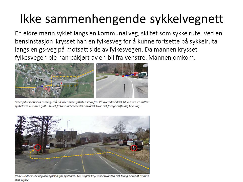 Ikke sammenhengende sykkelvegnett