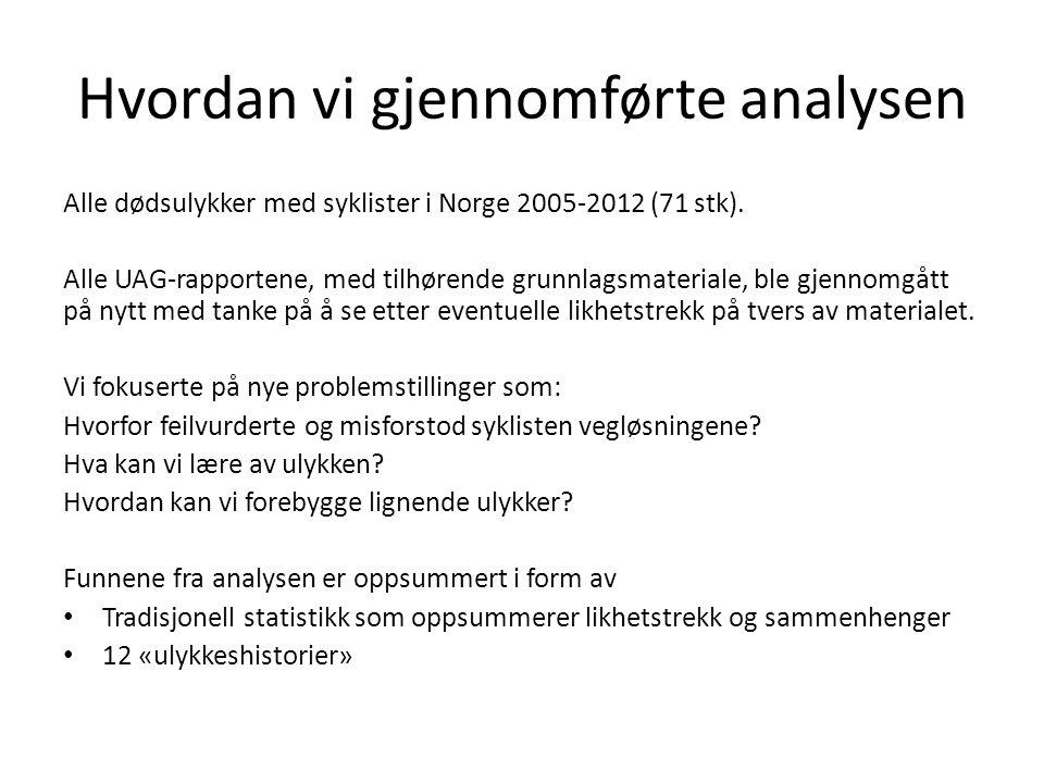 Hvordan vi gjennomførte analysen