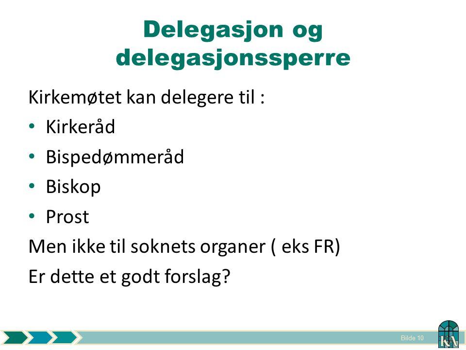 Delegasjon og delegasjonssperre