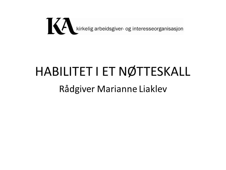 HABILITET I ET NØTTESKALL