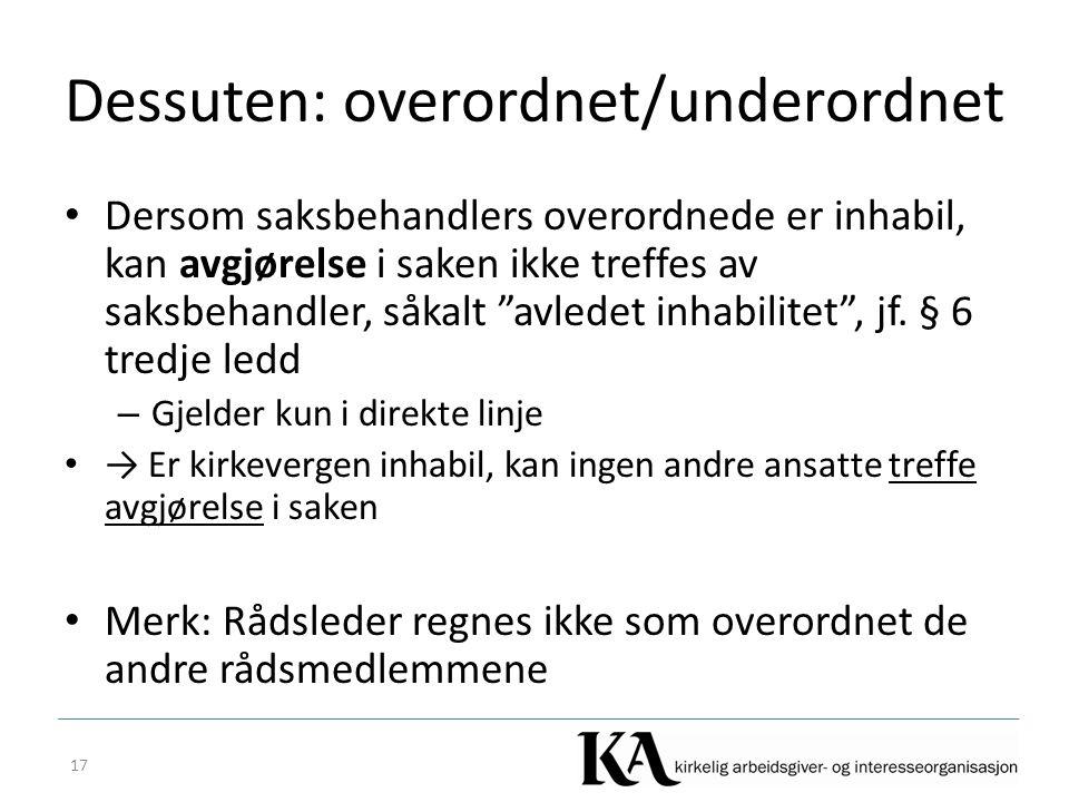 Dessuten: overordnet/underordnet