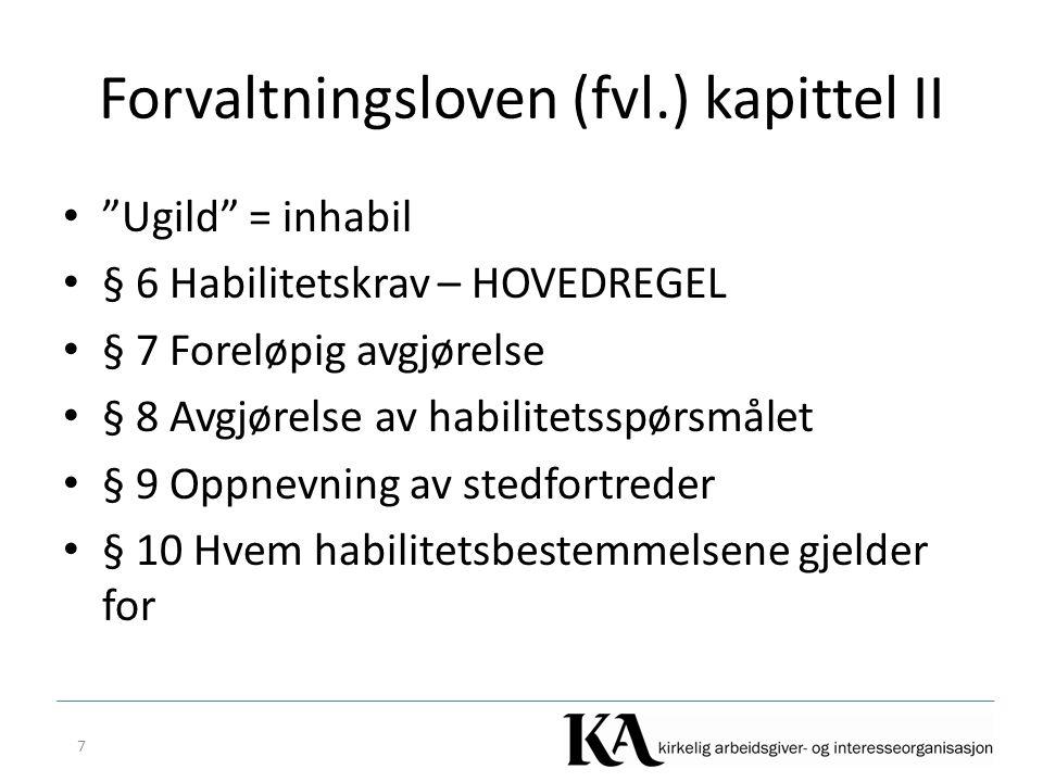 Forvaltningsloven (fvl.) kapittel II
