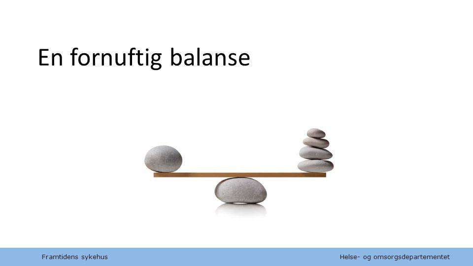 En fornuftig balanse Framtidens sykehus