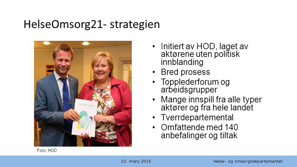 HelseOmsorg21- strategien