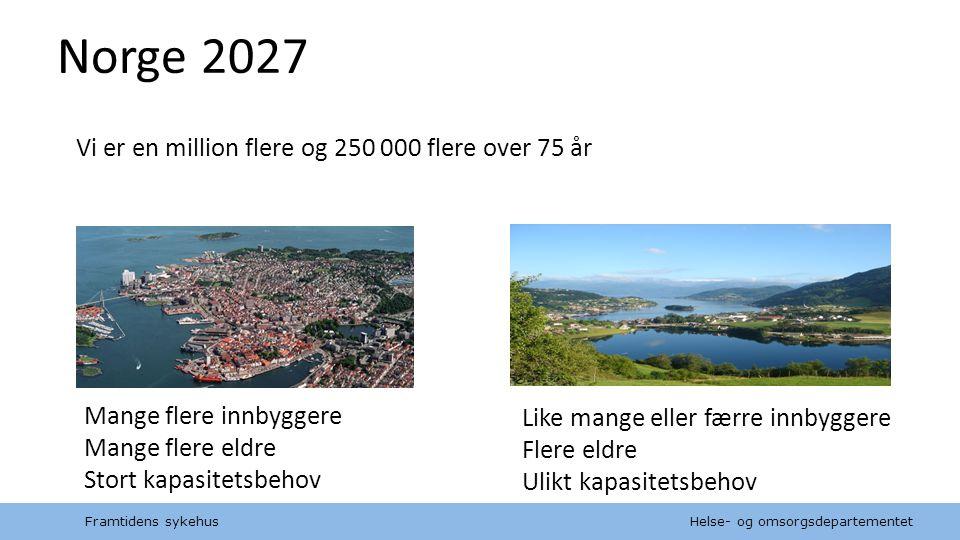Norge 2027 Vi er en million flere og 250 000 flere over 75 år