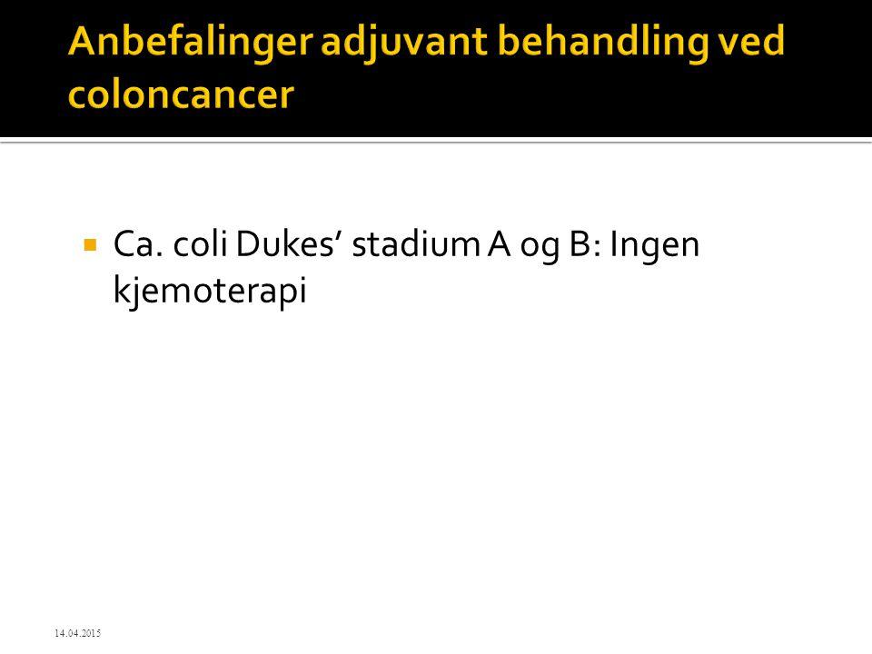 Anbefalinger adjuvant behandling ved coloncancer