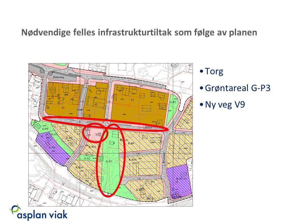 Nødvendige felles infrastrukturtiltak som følge av planen