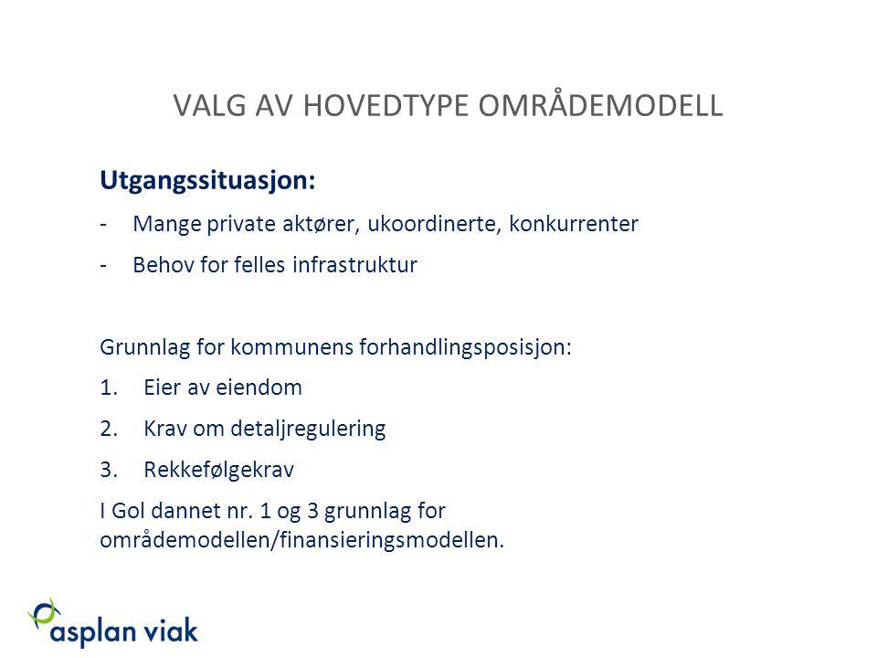 VALG AV HOVEDTYPE OMRÅDEMODELL