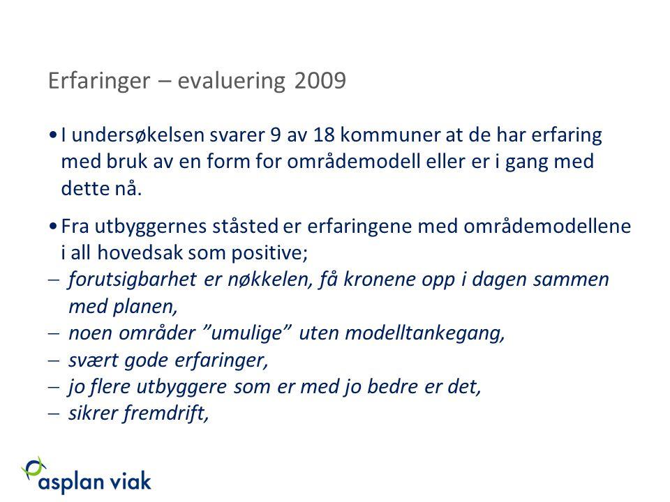 Erfaringer – evaluering 2009