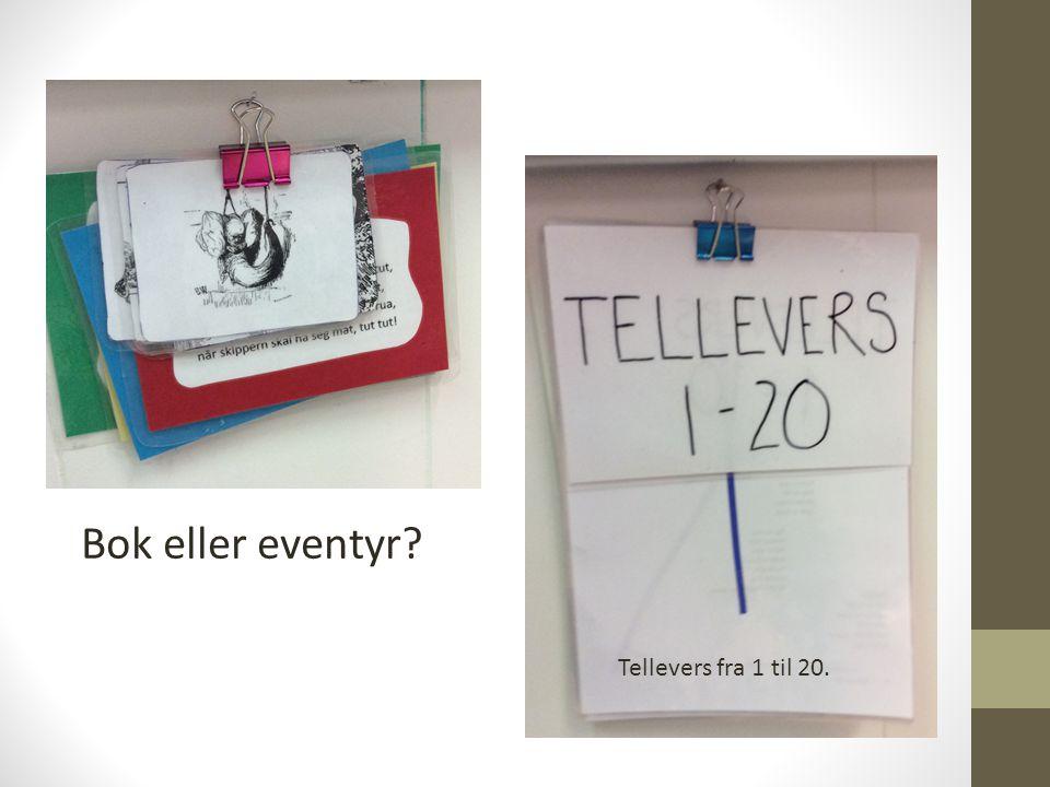Bok eller eventyr Tellevers fra 1 til 20.
