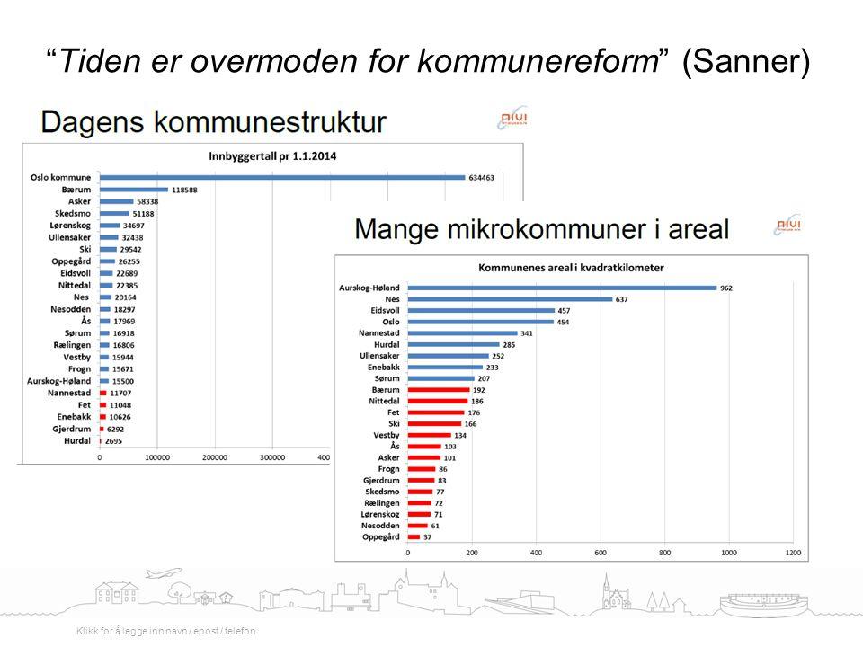 Tiden er overmoden for kommunereform (Sanner)