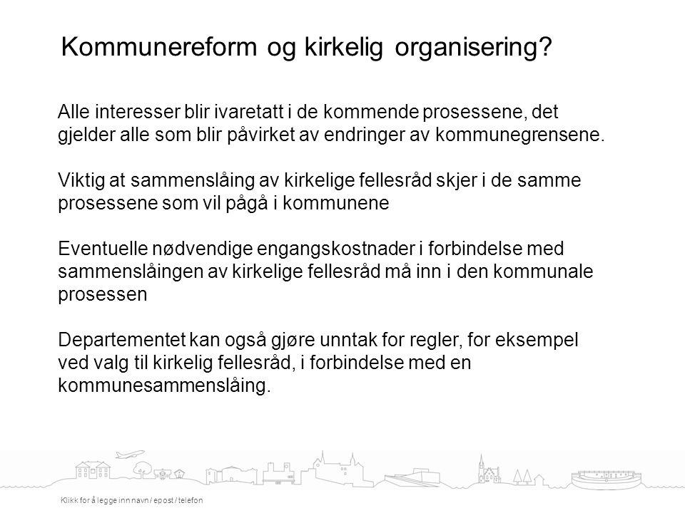 Kommunereform og kirkelig organisering