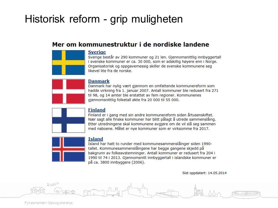 Historisk reform - grip muligheten