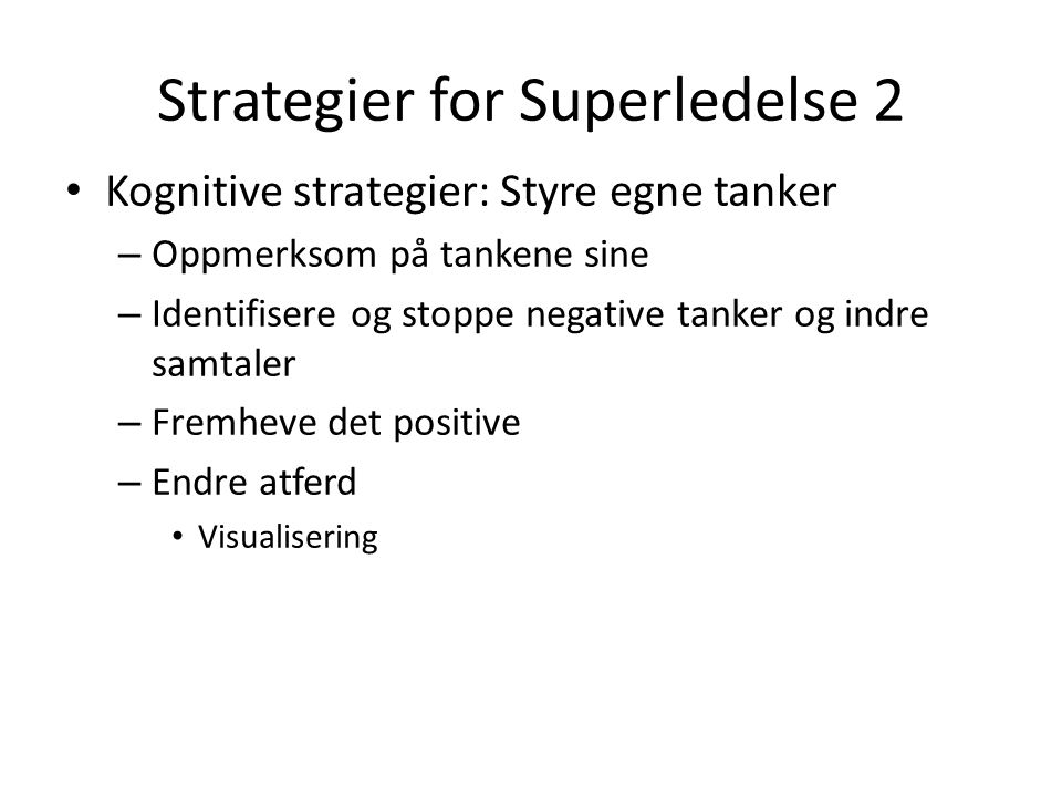 Strategier for Superledelse 2
