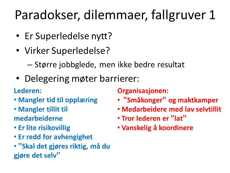 Paradokser, dilemmaer, fallgruver 1
