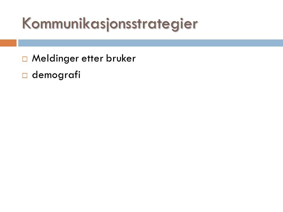 Kommunikasjonsstrategier