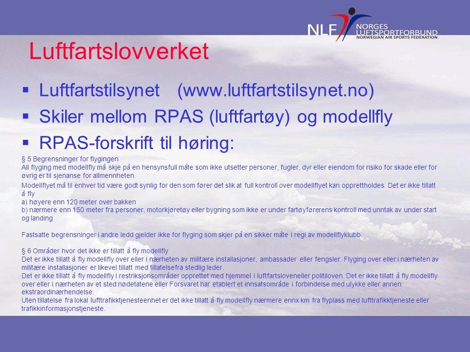 Luftfartslovverket Luftfartstilsynet (www.luftfartstilsynet.no)