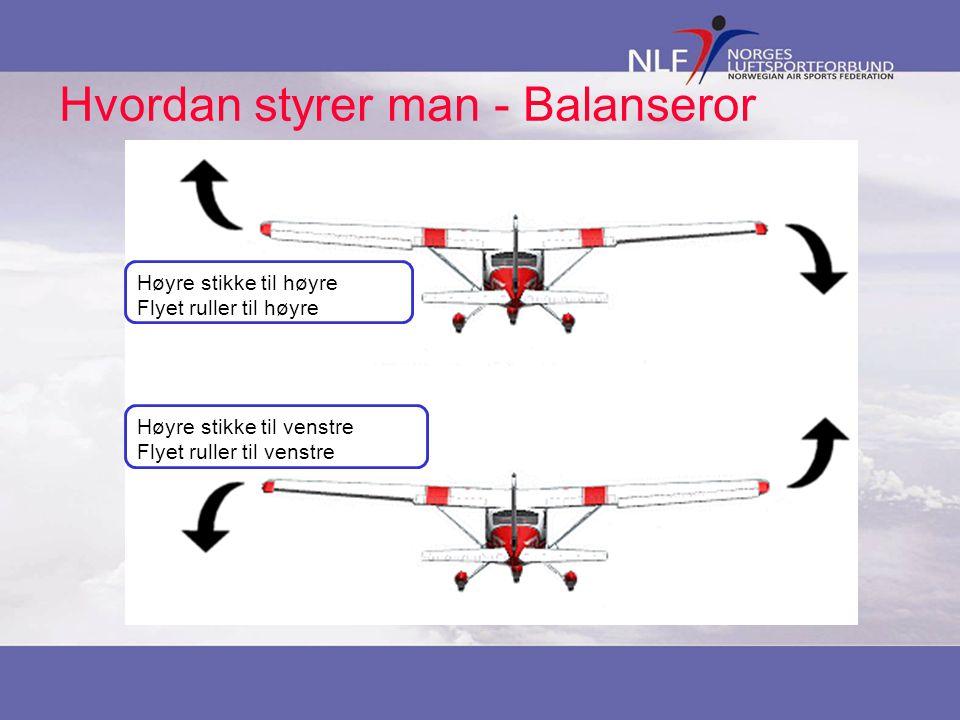 Hvordan styrer man - Balanseror