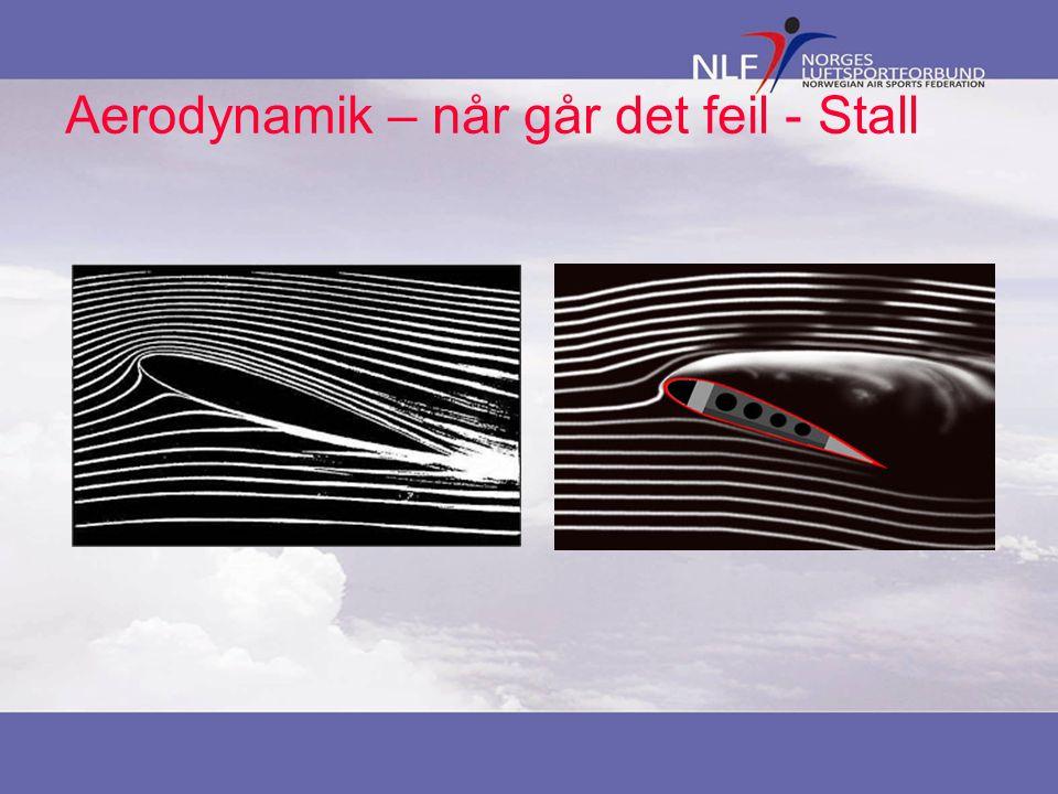 Aerodynamik – når går det feil - Stall