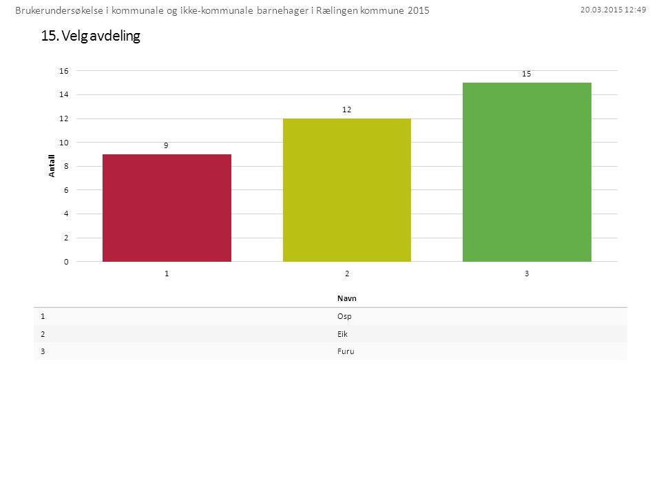 Brukerundersøkelse i kommunale og ikke-kommunale barnehager i Rælingen kommune 2015