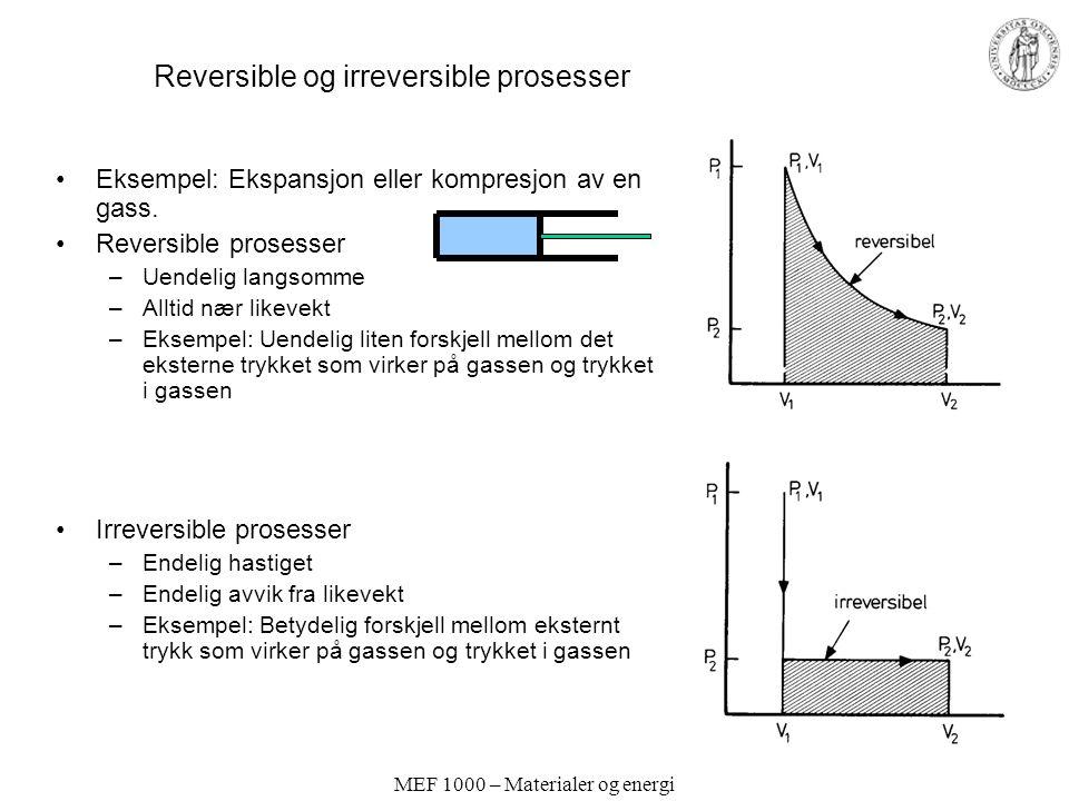 Reversible og irreversible prosesser