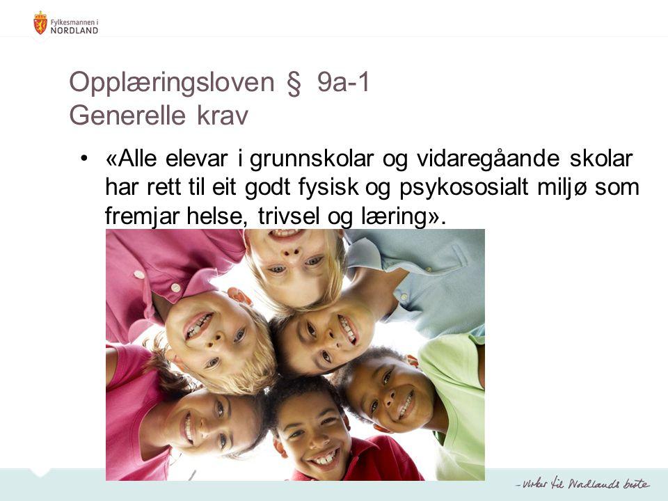 Opplæringsloven § 9a-1 Generelle krav