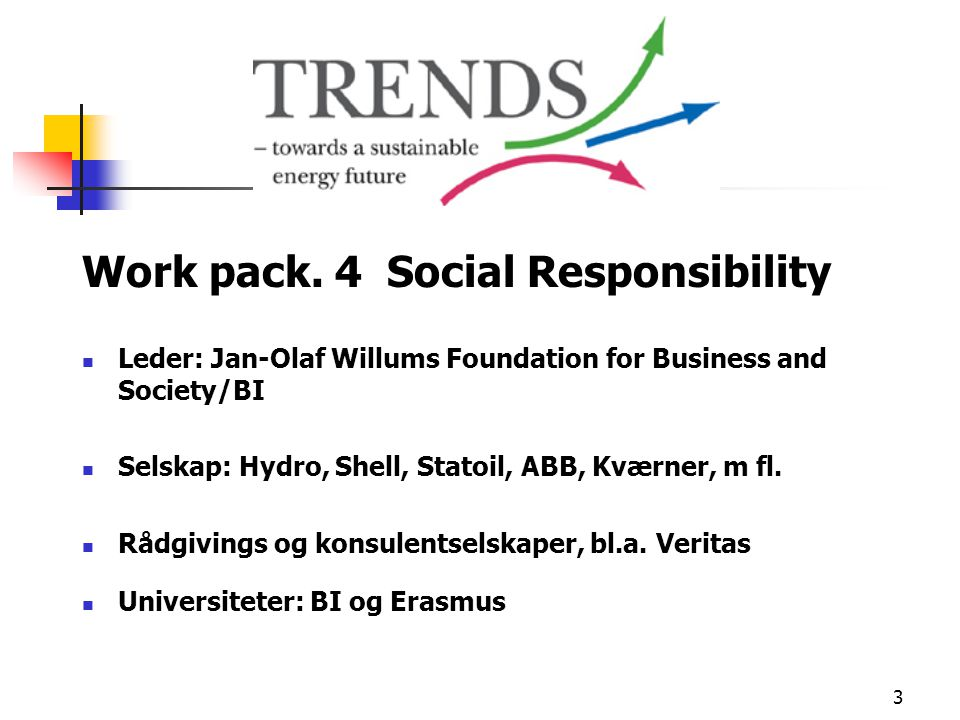 Work pack. 4 Social Responsibility