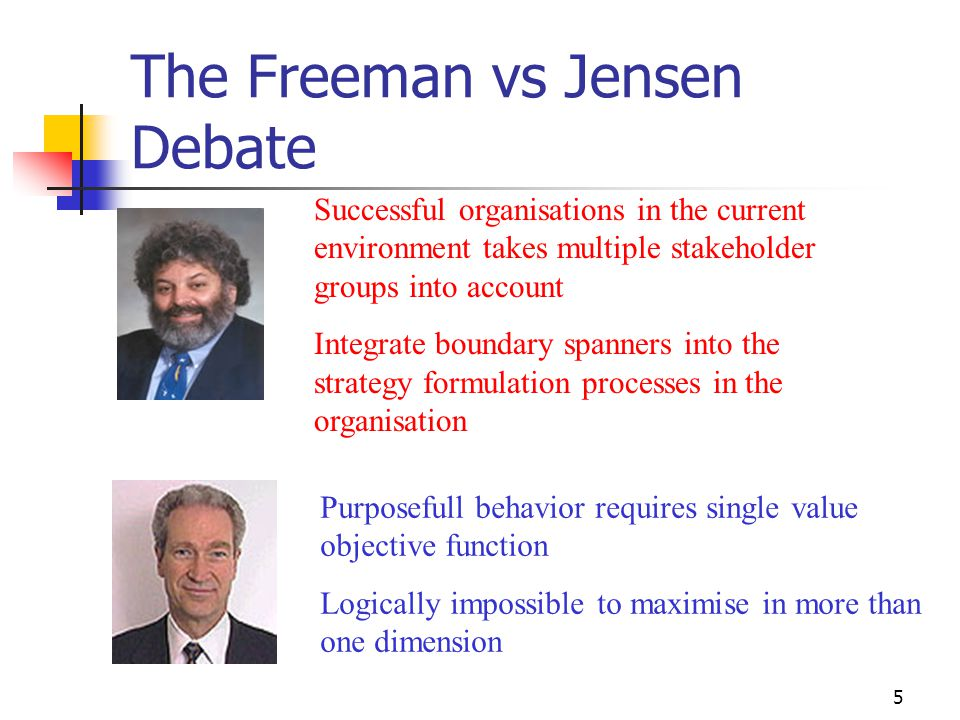 The Freeman vs Jensen Debate