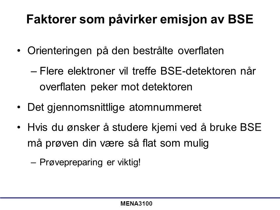 Faktorer som påvirker emisjon av BSE