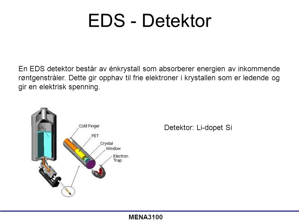 EDS - Detektor
