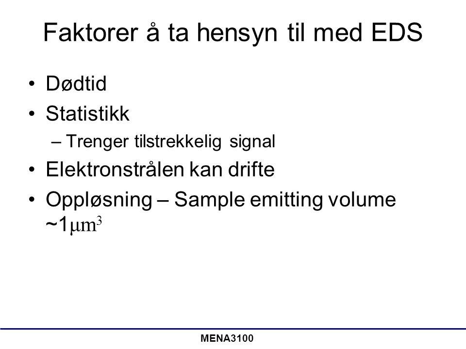 Faktorer å ta hensyn til med EDS