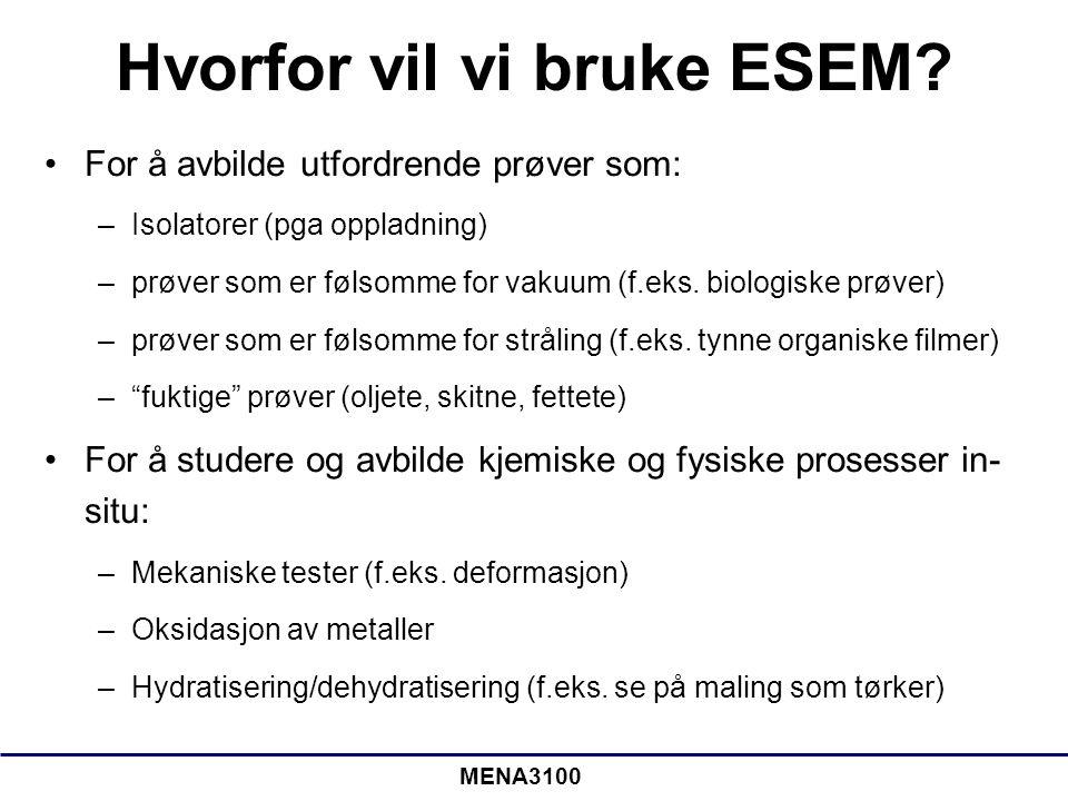 Hvorfor vil vi bruke ESEM
