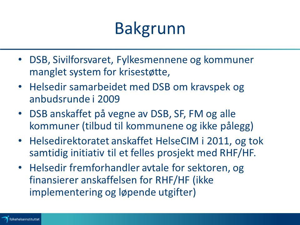 Bakgrunn DSB, Sivilforsvaret, Fylkesmennene og kommuner manglet system for krisestøtte,