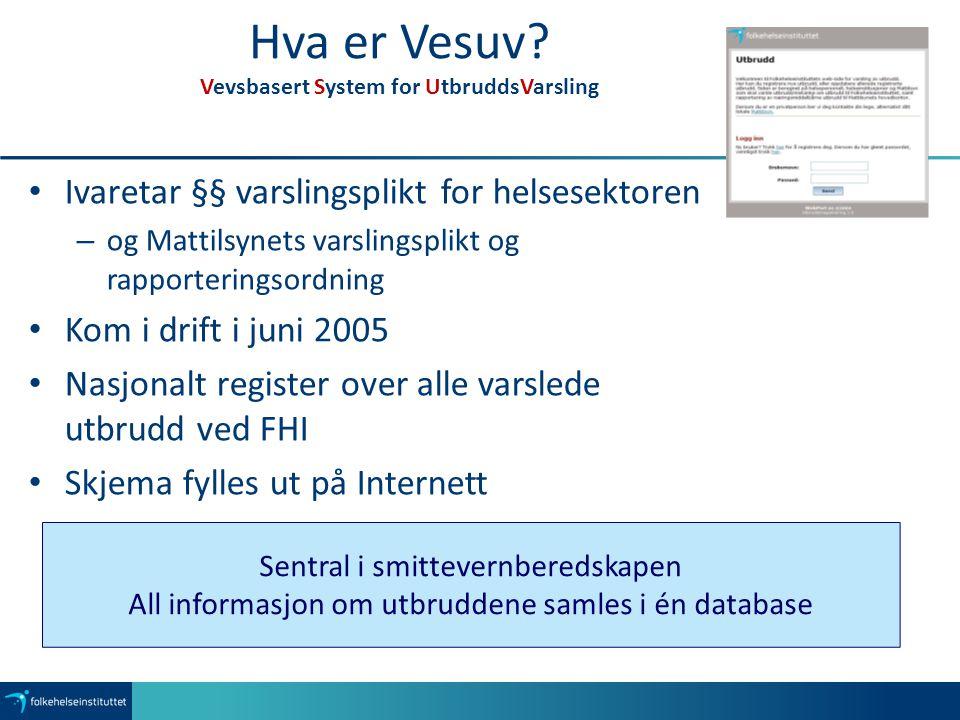 Hva er Vesuv Vevsbasert System for UtbruddsVarsling