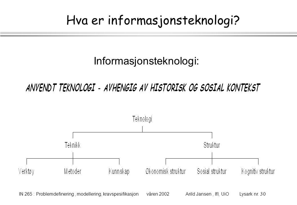 Hva er informasjonsteknologi