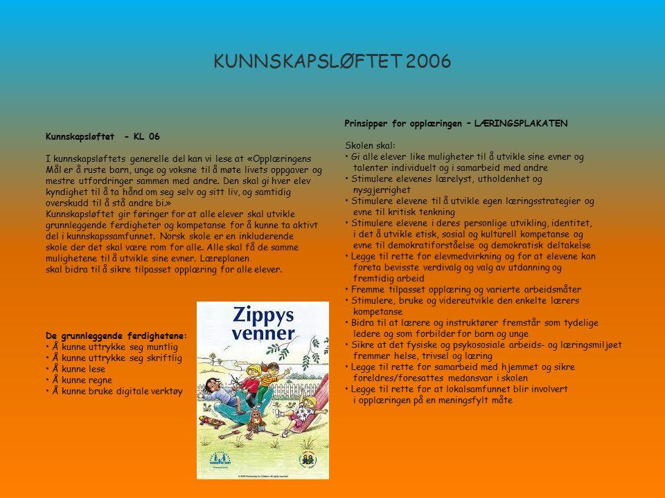 KUNNSKAPSLØFTET 2006 Prinsipper for opplæringen – LÆRINGSPLAKATEN