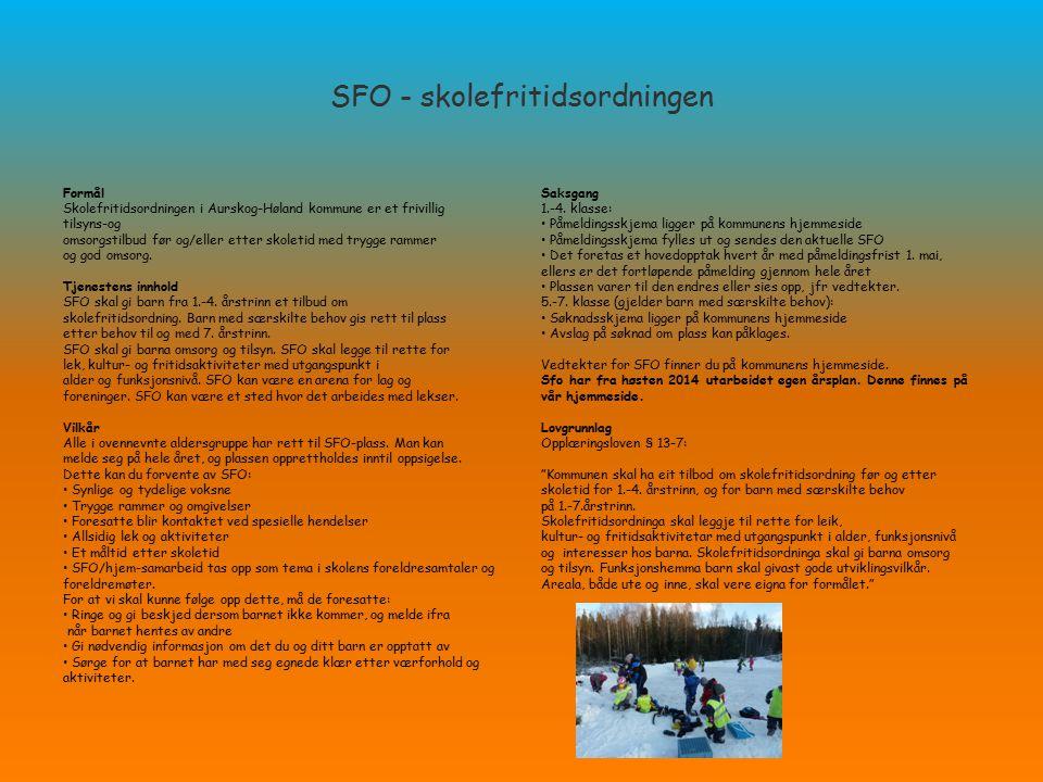 SFO - skolefritidsordningen