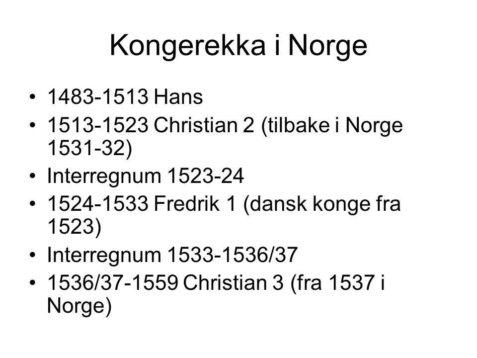 Kongerekka i Norge 1483-1513 Hans
