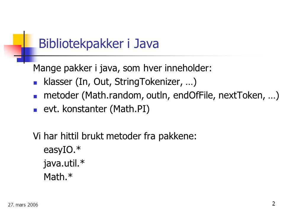 Bibliotekpakker i Java