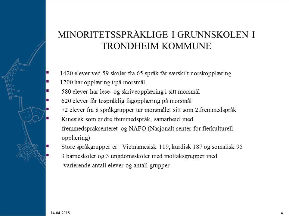 MINORITETSSPRÅKLIGE I GRUNNSKOLEN I TRONDHEIM KOMMUNE