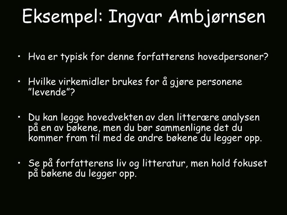 Eksempel: Ingvar Ambjørnsen