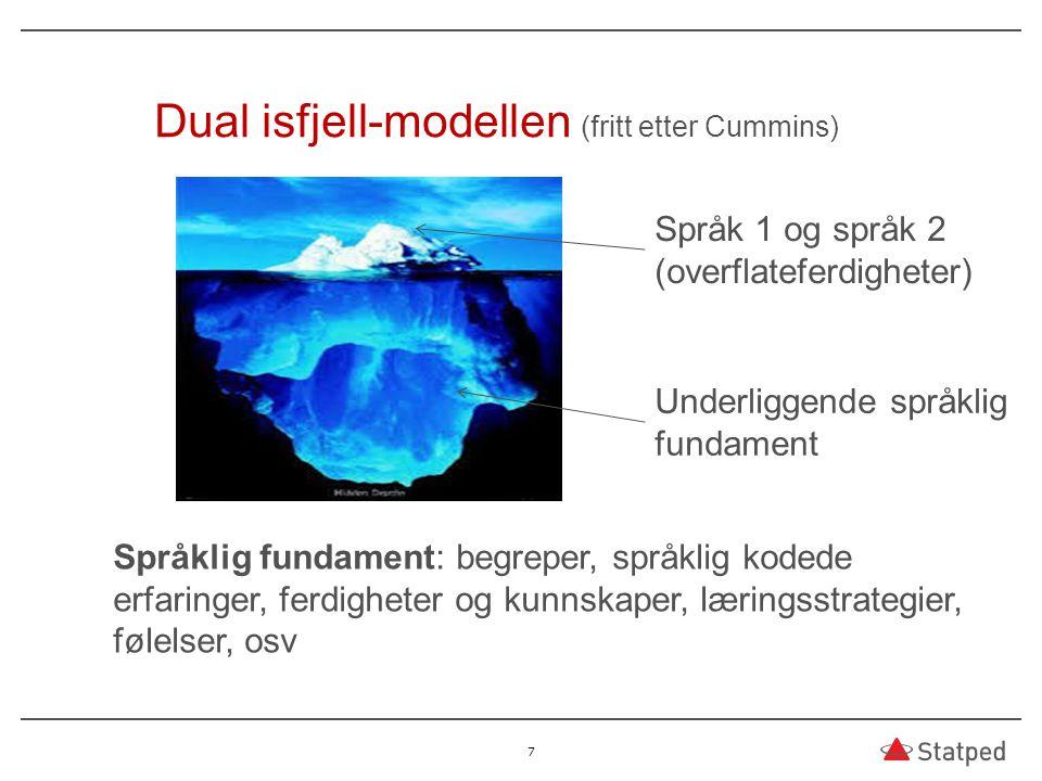 Dual isfjell-modellen (fritt etter Cummins)
