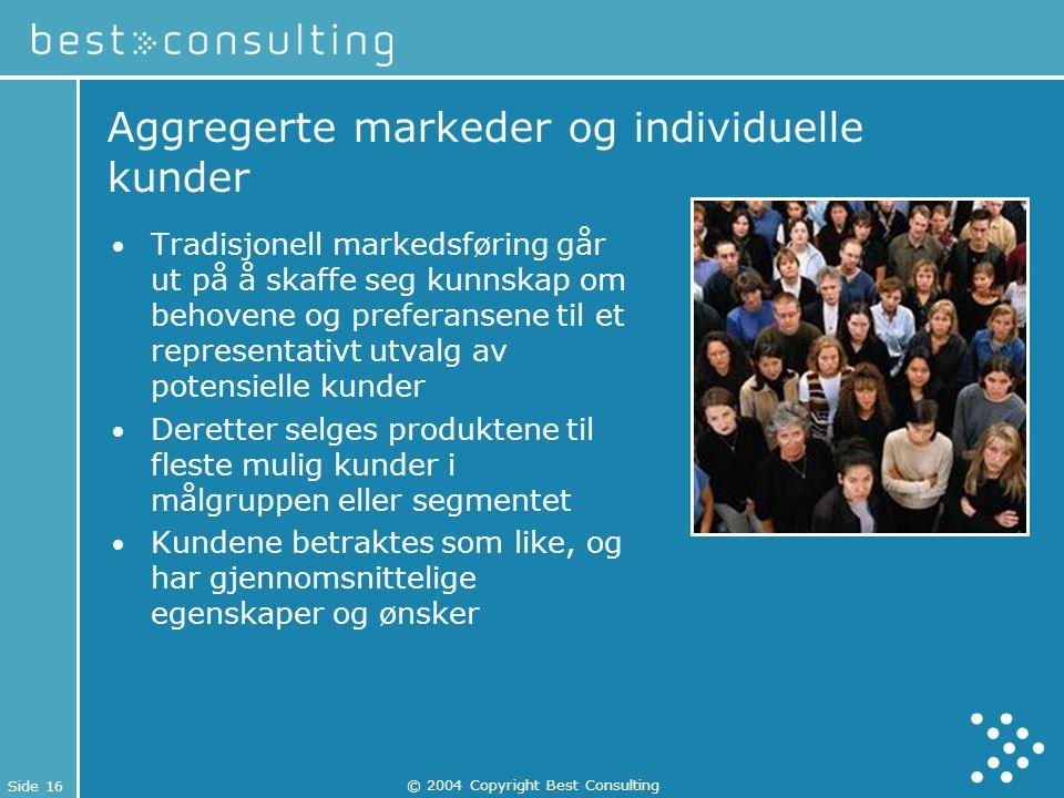Aggregerte markeder og individuelle kunder