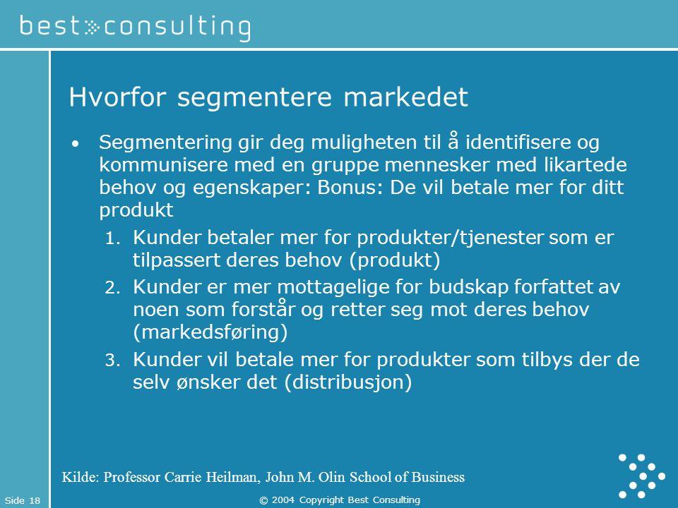 Hvorfor segmentere markedet