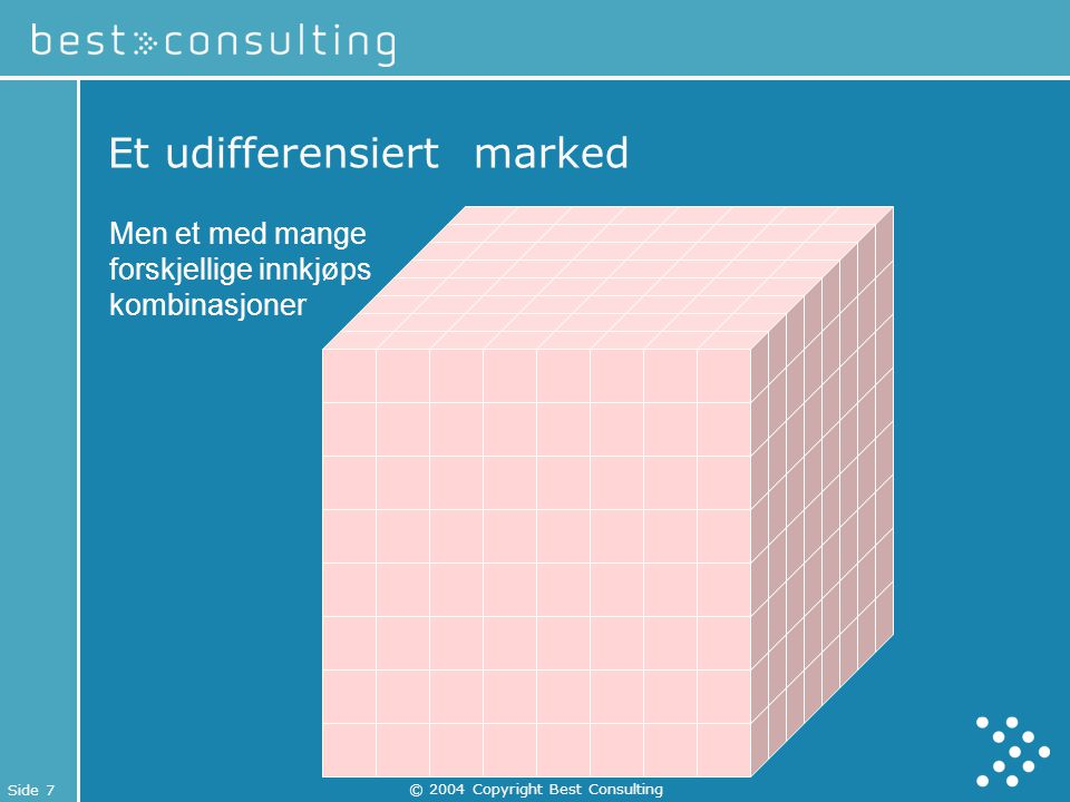 Et udifferensiert marked