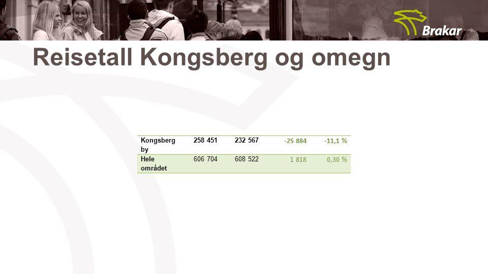 Reisetall Kongsberg og omegn