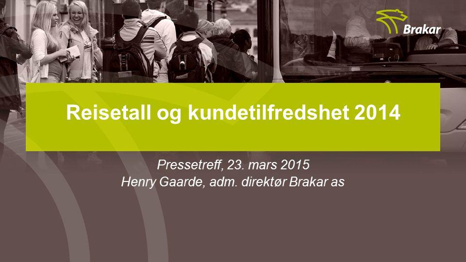 Reisetall og kundetilfredshet 2014