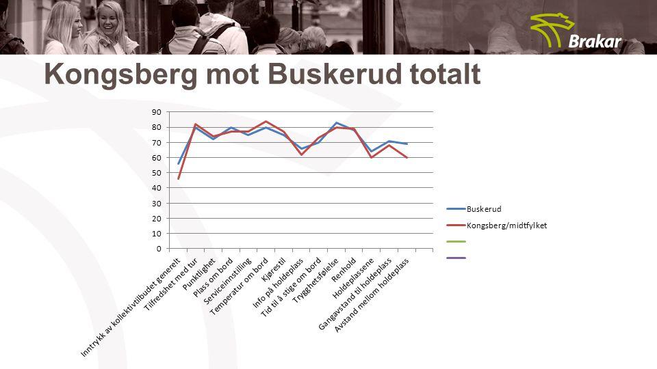 Kongsberg mot Buskerud totalt
