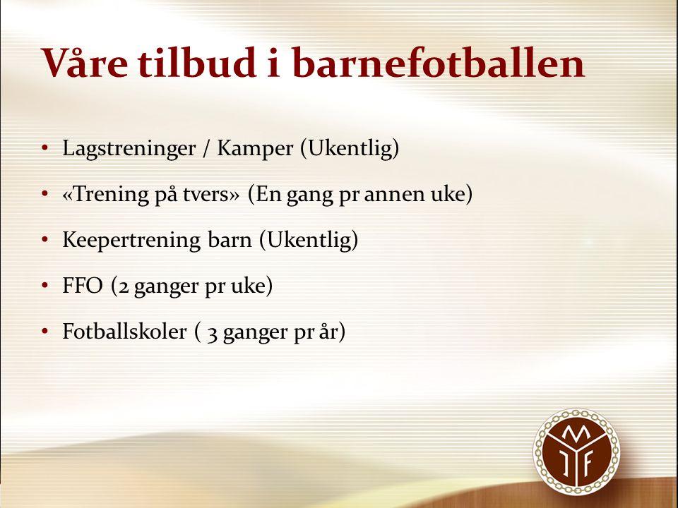 Våre tilbud i barnefotballen